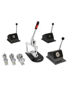 PixMax Paquet de Machine à Badge, Coupeur, Moules & Têtes de Pressage 25mm, 37mm & 58mm