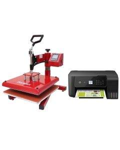 Prensa Térmica Oscilante 38x38cm PixMax para Sublimación de Camisetas & Impresora