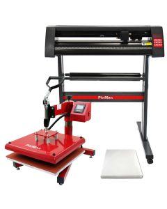 PixMax Presse à Chaud 38x38cm & Plotter de Découpe Vinyle