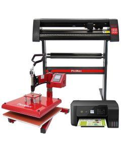 PixMax Presse à Chaud Swing 38cm, Plotter de Découpe Vinyle et Imprimante