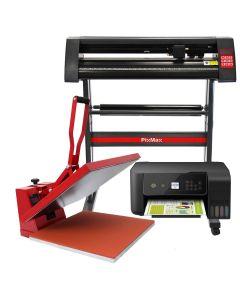 Presse à Chaud en Forme de Palourde 50cm, Plotter de Découpe Vinyle & Imprimante
