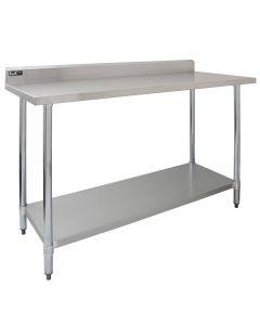 Tavolo da Cucina Ristorante in Acciaio Inox - 150cm