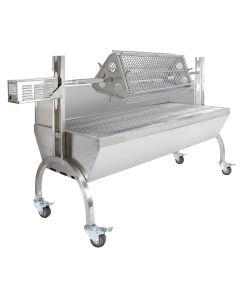 Girarrosto 90 kg KuKoo per Barbecue con Griglia e 3 Altezze Regolabili