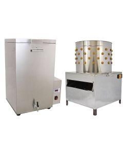 KuKoo 50cm Geflügelrupfmaschine und Brühmaschine