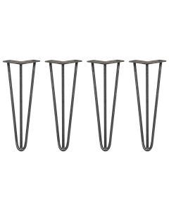 4 x 35,5cm Pinpoten - 3 Ledig - 10mm - Ruw Staal