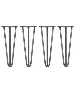 4 x 35,5cm Pinpoten - 3 Ledig - 12mm - Ruw Staal