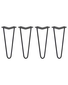 4 x 30.5cm Pinpoten - 2 Ledig - 10mm - Zwart
