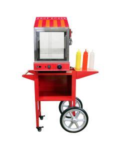 KuKoo Cuiseur vapeur pour Hot Dog avec Chariot assorti