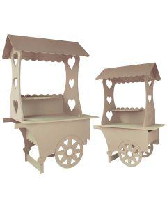 KuKoo Lot de 2 Chariots Présentoirs de Friandises