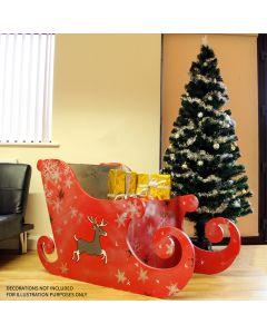 Weihnachtlicher Dekoschlitten MDF