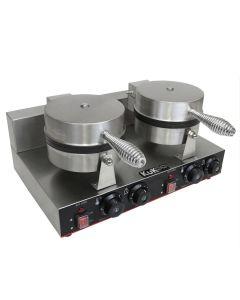 Gaufrier Electrique Professionnel Double Moules Plaque de Cuison en Téflon et Aluminium