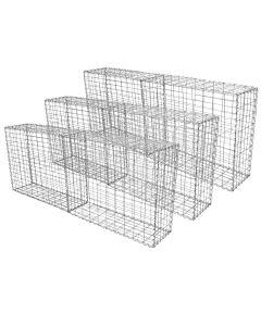 Schanskorf muur - Set: 6 - afmetingen: 100x80x30 cm