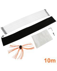Deshollinador Cepillo Nylon Cepillo 10m Kit Flexibles 10 Varillas