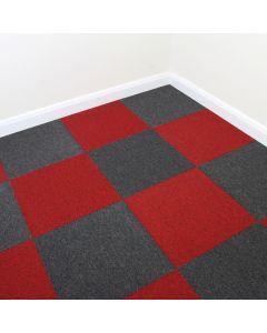 40 x Tapijttegels - Zwart en Rood - 50x50cm 10m2