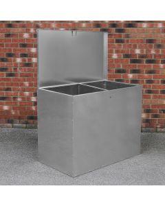 Contenedor Grande de Alimentación Animales Almacenaje 64L Exterior 2 Compartimentos