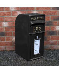 Royal Mail Buzón de Correos Negro Pilar de Hierro Fundido Buzón de Correos para Cartas Montaje para Pared Postal