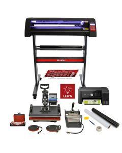 720mm LED Schneideplotter & 5 in 1 Hitzepresse & Drucker im Set