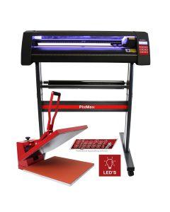 Plotter per Taglio Vinile - LED - 720 & Pressa a Caldo - 50x50