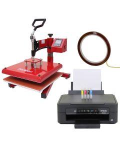 38cm Schwing-Transferpresse & Epson Drucker
