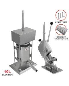10L kommerzieller, elektrischer Wurstfüller & Wurstclipper