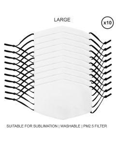 Mascherine per Sublimazione - Grandi - 10 Pezzi