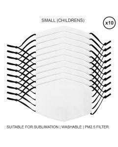 Mascherine per Sublimazione - Piccole (Bambino) - 10 Pezzi