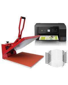 Bundel: 10 Sublimatie Mondkapjes - Hittepers - Printer eco tank