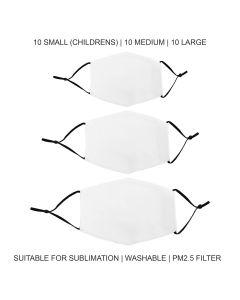 Mascherine per Sublimazione - Miste - 30 Pezzi