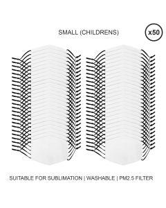 Mascherine per Sublimazione - Piccole (Bambino) - 50 Pezzi