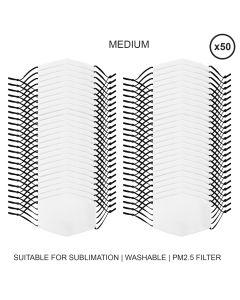 Mascherine per Sublimazione - Grandi - 50 Pezzi