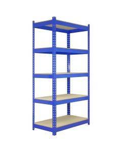 5 x Q-Rax Lagerregale 180cm x 90cm x 50cm Blau