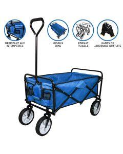 Chariot Pliable de Jardin – Bleu