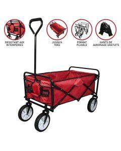 Chariot Pliable de Jardin – Rouge