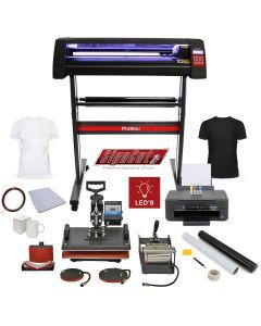 Kit Da Vinci con Plotter per Taglio Vinile - LED - 720 & Pressa a Caldo 5 in 1 & Stampante a Cartucce & Accessori