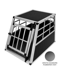 Hondenkooi voor auto - Alumunium - 1 deur - Medium