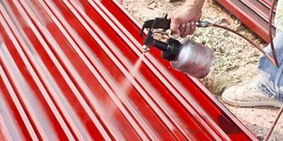 Spray Painting Using Air Compressor