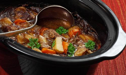 Pressure Cooker Stew & Serving Spoon