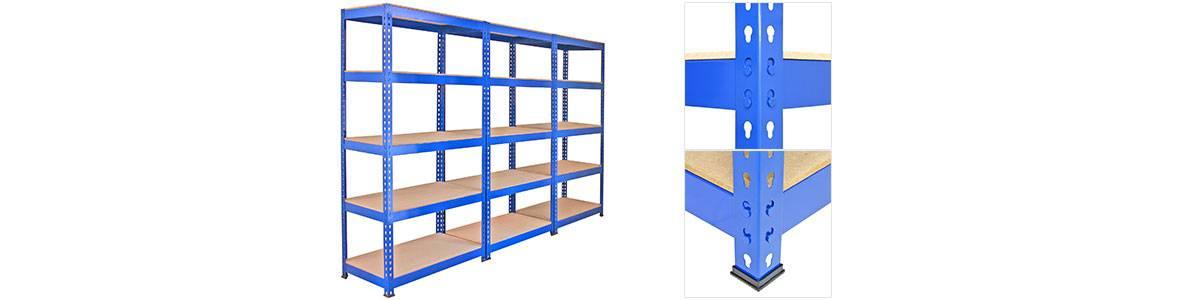 Q-Rax Strong Blue Metal Storage Shelves
