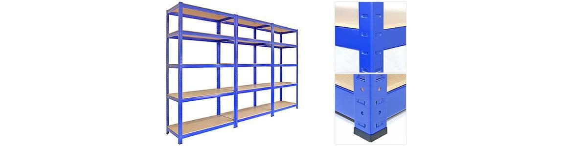T-Rax Blue Warehouse Metal Shelving