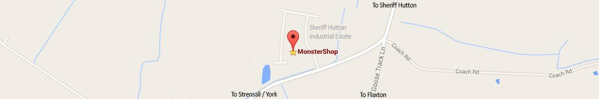 Map Directions to Monster House on Sheriff Hutton Industrial Estate, York